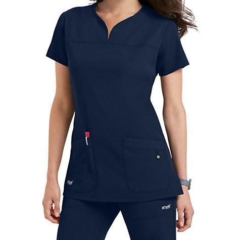 9efbb32102c Grey's Anatomy Signature Notch Neck 2 Pocket Scrub Tops | Uniform City