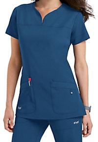 Grey's Anatomy Signature Notch Neck 2 Pocket Scrub Tops