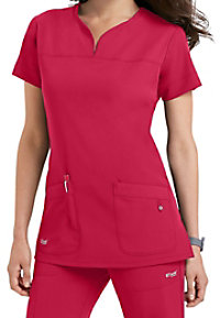 Grey's Anatomy Signature Notch Neck 2 Pocket Scrub Tops
