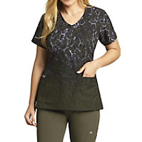 Grey's Anatomy Signature Cheetah Dip Dye Print Tops