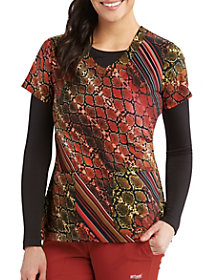 Desert Snake V-Neck Print Top