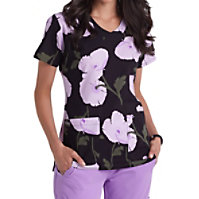 Grey's Anatomy Signature Pretty Poppy V-neck Print Tops