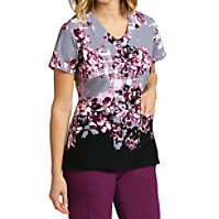 Greys Anatomy Signature Rose Garden Print Tops