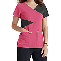 Grey's Anatomy Signature 4 Pocket Mock Wrap Tops