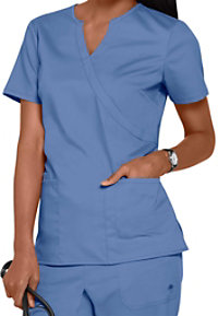 Healing Hands Purple Label Stretch Jaclyn Notched V-neck Crossover Scrub Tops