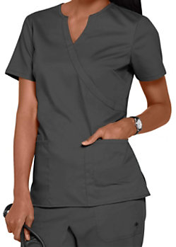 a6e3535bbc9 Healing Hands Purple Label Stretch Jaclyn Notched V-neck Crossover Scrub  Tops