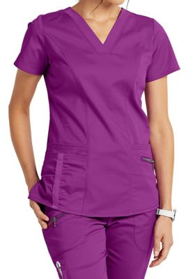 Beyond Scrubs Ellie V-neck 4-Pocket Scrub Tops