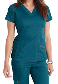 7aee62b252b See Details item #2242B · Beyond Scrubs Ellie V-neck 4-Pocket Scrub Tops