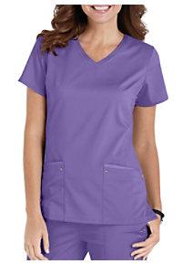 9ff16127681 See Details item #2245 · Healing Hands Purple Label Juliet V-Neck Knit  Panel Scrub Top