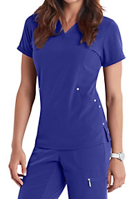 Beyond Scrubs Active Charli V-neck 3-pocket Scrub Tops