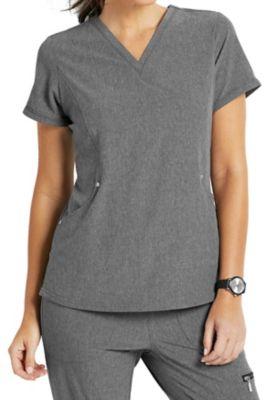 Beyond Scrubs Active Charli V-neck 3-pocket Scrub Tops