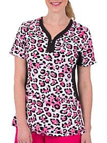 Jessi Pink Leopard Print Top
