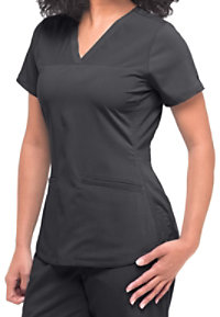Healing Hands Purple Label Jade Perforated Panel Scrub Tops