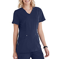 822bcec290e Beyond Scrubs Active Lexi 4 Pocket V-Neck Scrub Top