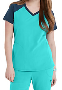 Beyond Scrubs Active Sophie Color Block Scrub Tops