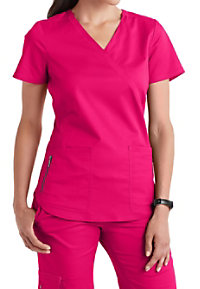 Beyond Scrubs Samantha Mock Wrap Scrub Tops
