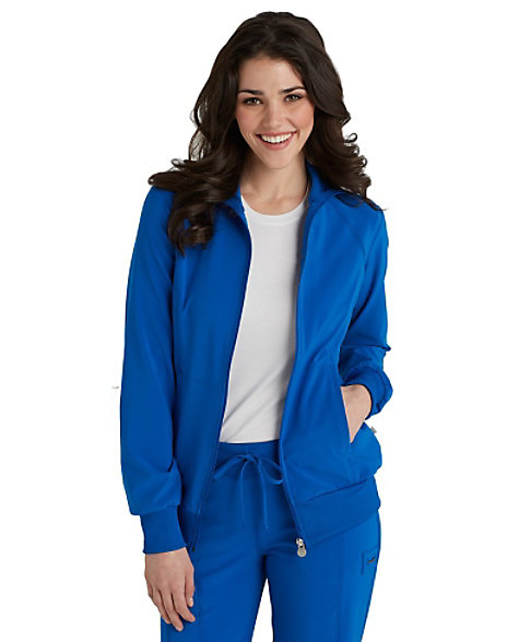 818e7c06d33 Infinity By Cherokee Zip Front Warm Up Scrub Jacket With Certainty ...