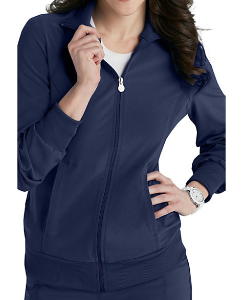 bf75372dca0 Infinity By Cherokee Zip Front Warm Up Scrub Jacket With Certainty | Scrubs  & Beyond
