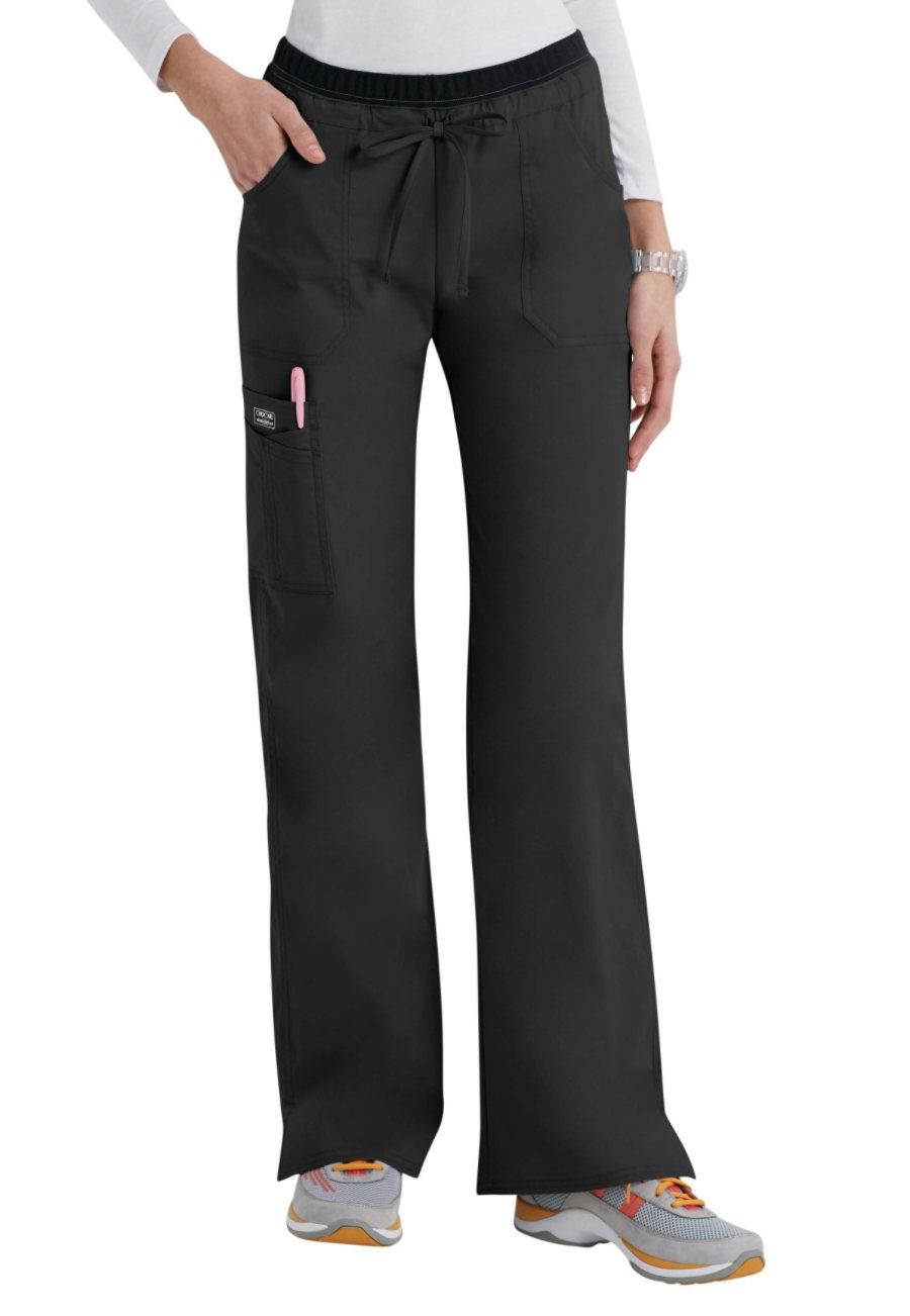 Cherokee Workwear Core Stretch Modern Fit Cargo Scrub Pants - Black - 3X