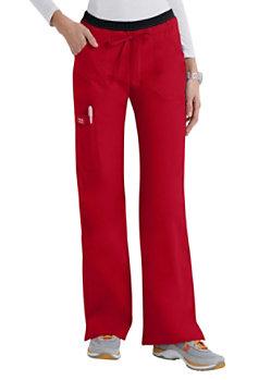 Cherokee Workwear Core Stretch Modern Fit Cargo Scrub Pants Red
