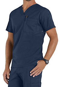 Beyond Scrubs Men's Jack V-neck Scrub Tops