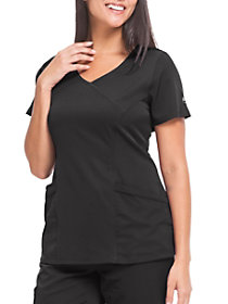 Madison Faux Wrap 3 Pocket V-Neck Top