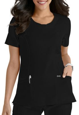 Infinity By Cherokee Round Neck Scrub Tops With Certainty