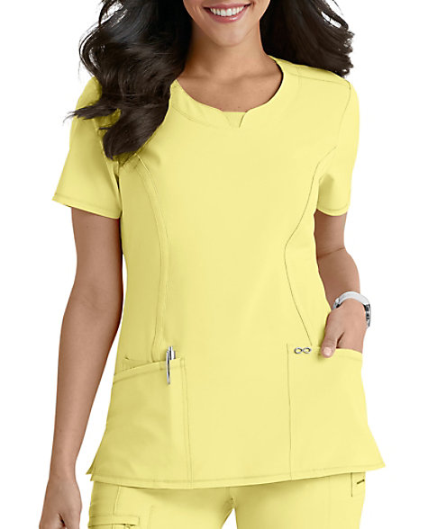 6de1febe632 Infinity By Cherokee Solid Round Neck Scrub Tops With Certainty | Scrubs &  Beyond