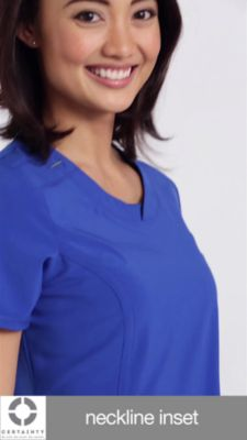 e8d7364e84c Infinity By Cherokee Solid Round Neck Scrub Tops With Certainty ...