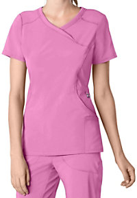 Infinity By Cherokee Solid Mock Wrap Scrub Tops With Certainty