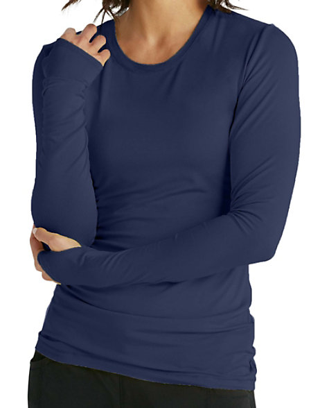 a6d6e478659 Infinity By Cherokee Long Sleeve Knit Underscrub With Certainty   Scrubs &  Beyond