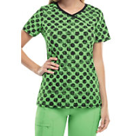 Infinity By Cherokee Dot Pursuit Candy Apple Print Tops With Certainty