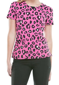 Infinity By Cherokee Fierce Things First Carmine Print Scrub Tops With Certainty