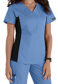 Nursing Flexibles V-Neck Knit Panel Scrub Tops