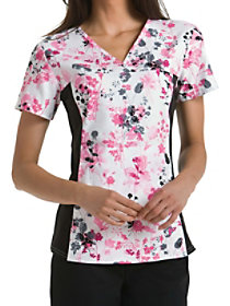 Yorkshire Garden V-Neck Print Top