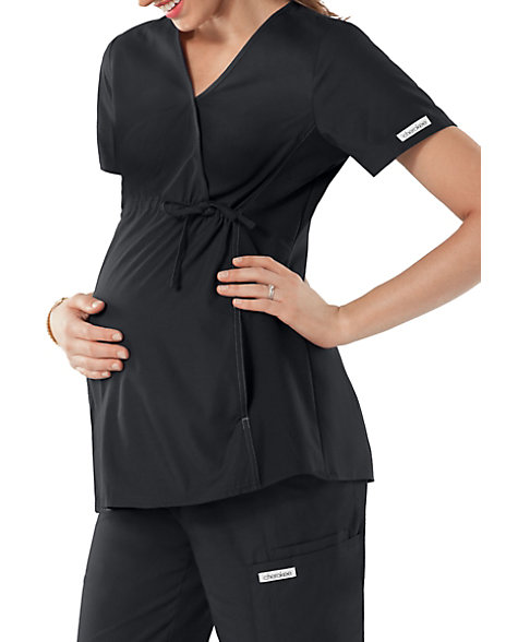 4337b8796d8 Cherokee Flexibles Maternity Mock-wrap Knit Panel Scrub Tops | Scrubs &  Beyond