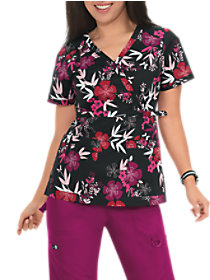 Stretch Luna Bamboo Garden Print Top