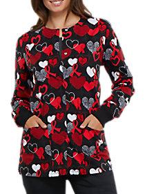 Heart Smart Print Jacket