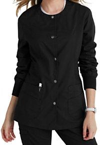 Landau For Women Prewashed Snap Front Scrub Jackets