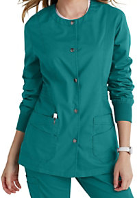 Landau For Women Prewashed Snap Front Scrub Jackets
