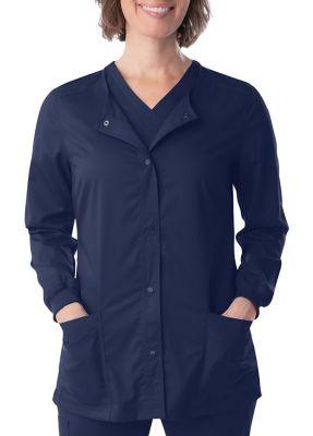 Landau Proflex Snap Front Scrub Jacket