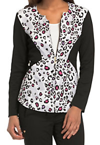 Careisma by Sofia Vergara Wild About Houndstooth Print Scrub Jackets