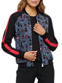 Marked Hearts Print Jacket