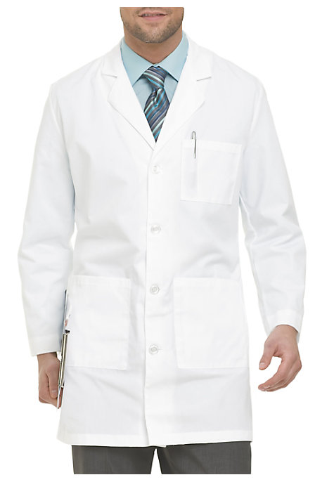 b7283974d99 See Details item #3124 · Landau Mens 37.5 Inch 4 Button Lab Coat