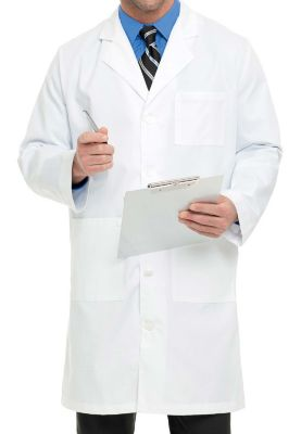 40.5 Inch Knee Length Lab Coat