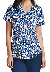 Barco NRG Animal Check Print Scrub Tops