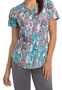 Barco NRG Jewels V-neck Print Scrub Tops