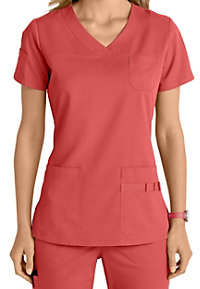 Barco NRG 3 Pocket V-neck Scrub Tops