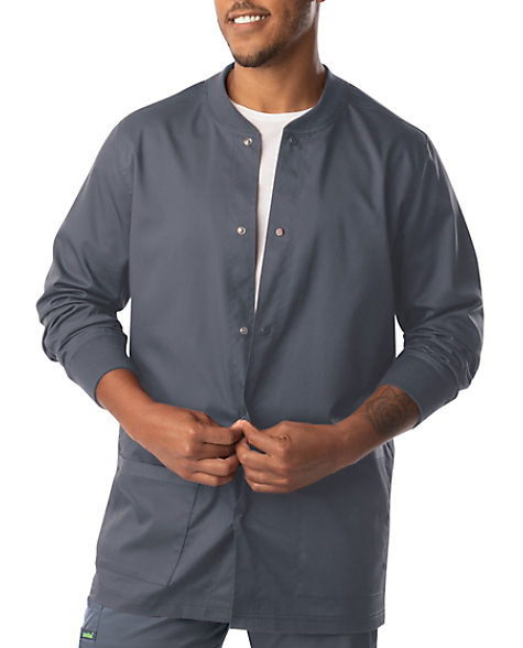 Landau Proflex Men's Snap Front Warm Up Scrub Jacket ...