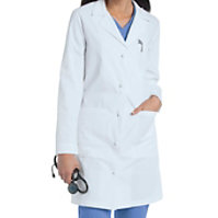Landau Women's 36 Inch Knot Buttons Lab Coats